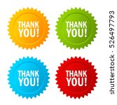 thank you vector icon. thank... | Shutterstock .eps vector #526497793