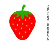 strawberry vector icon.... | Shutterstock .eps vector #526497817