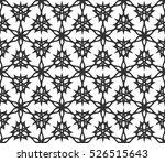 black and white ethnic  arabic  ... | Shutterstock .eps vector #526515643