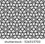 monochrome geometric seamless... | Shutterstock .eps vector #526515703