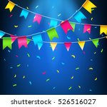 multicolored bright buntings... | Shutterstock .eps vector #526516027