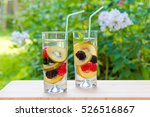 two glasses of delicious... | Shutterstock . vector #526516867