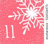 page advent calendar 25 days of ... | Shutterstock .eps vector #526526473
