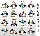 set of animal penguin design... | Shutterstock .eps vector #526528267