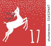 page advent calendar 25 days of ... | Shutterstock .eps vector #526529647
