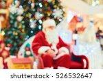 Blurred Santa Claus Near The...