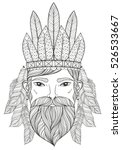 vector zentangle portrait of... | Shutterstock .eps vector #526533667