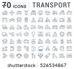 set vector line icons in flat... | Shutterstock .eps vector #526534867