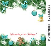 christmas and new year... | Shutterstock .eps vector #526536583