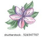 Purple Flower Hand Drawn...
