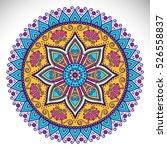 vector indian mandala | Shutterstock .eps vector #526558837