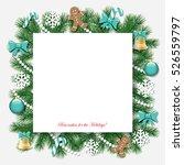 christmas decorative frame. | Shutterstock .eps vector #526559797
