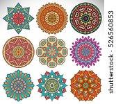 vector indian mandala   Shutterstock .eps vector #526560853