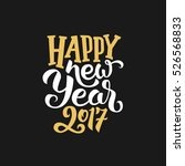 happy new year 2017 greeting... | Shutterstock . vector #526568833