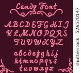 candy font sweet striped type ... | Shutterstock .eps vector #526570147