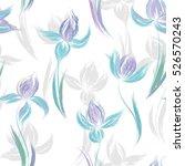 floral seamless pattern. irises ...   Shutterstock .eps vector #526570243