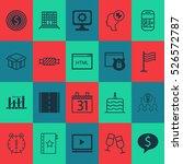 set of 20 universal editable... | Shutterstock .eps vector #526572787