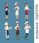 line up group of restaurant...   Shutterstock .eps vector #526573753