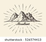 vintage hand drawn mountains.... | Shutterstock .eps vector #526574413