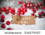 burnt label  snow  snowflakes ... | Shutterstock . vector #526579207