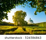 kromeriz flower garden with... | Shutterstock . vector #526586863