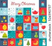 advent calendar. christmas... | Shutterstock .eps vector #526590757