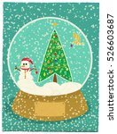 Snow Globe With Christmas Tree...