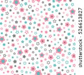 seamless floral pattern with... | Shutterstock .eps vector #526613827
