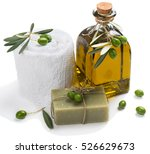 Olive Oil Soap And Bath Towel...