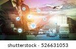 business logistics concept ... | Shutterstock . vector #526631053