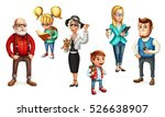 family. funny people. father ... | Shutterstock .eps vector #526638907