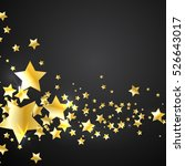gold stars on a black background | Shutterstock .eps vector #526643017