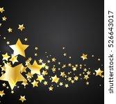 gold stars on a black background   Shutterstock .eps vector #526643017