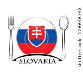 food  logo made from the flag...   Shutterstock .eps vector #526646743