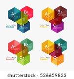 vector set of geometric paper... | Shutterstock .eps vector #526659823