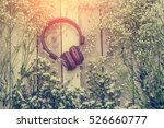 headphone with frame of... | Shutterstock . vector #526660777