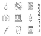 diagnosis icons set. outline...   Shutterstock .eps vector #526665367