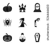 terrible holiday icons set.... | Shutterstock .eps vector #526666603