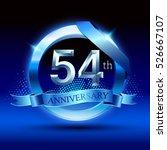 celebrating 54th anniversary... | Shutterstock .eps vector #526667107
