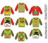ugly sweater vector cartoon... | Shutterstock .eps vector #526670257