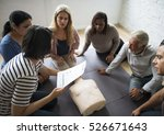cpr first aid training concept | Shutterstock . vector #526671643