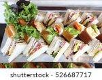 mini club sandwich with chicken ... | Shutterstock . vector #526687717