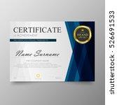 certificate template awards... | Shutterstock .eps vector #526691533
