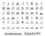landmark tourist icon set | Shutterstock .eps vector #526691797