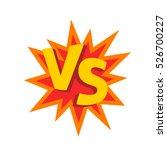 versus letters or vs logo... | Shutterstock .eps vector #526700227