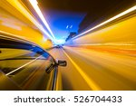 the car moves at fast speed at... | Shutterstock . vector #526704433