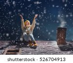 happy child girl playing on a... | Shutterstock . vector #526704913