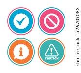 information icons. stop... | Shutterstock . vector #526709083
