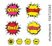 comic boom  wow  oops sound... | Shutterstock . vector #526712263