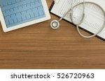 cardiograph  electrocardiogram...   Shutterstock . vector #526720963